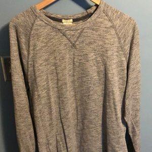 Gray on gray long sleeve T-shirt